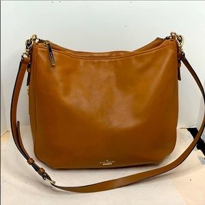 KATE SPADE NEW YORK roulette large leather hobo